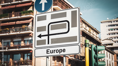 Photo Street Sign to Europe