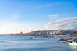 Morning in the harbor at the cruise terminal with a view of the city of Gran Canaria, Spain, December 22, 2019