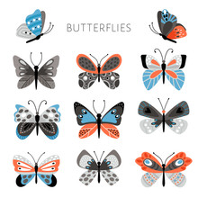 Color Butterflies And Moths Il...