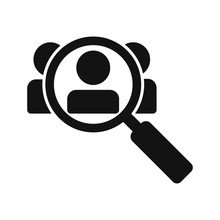 Search Job Vacancy Icon Isolated On White Background. Vector Illustration.