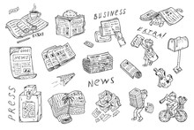 Newspaper Vector Icons. Newspa...