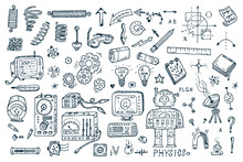 Science Icons. Hand Drawn Dood...
