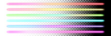 Fluorescent Sticks. Glowing Iridescent Neon Lights For Both Light And Dark Backgrounds