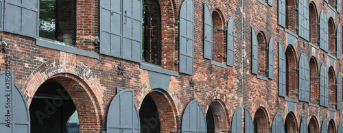 Old warehouses in Dumbo, Brooklyn, New York City Wallpaper Mural