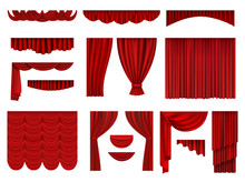Red Curtains. Textile Theatric...