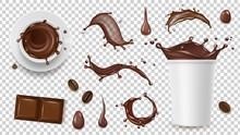 Realistic Coffee Set. Drink Sp...