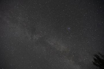 Night sky over the lake