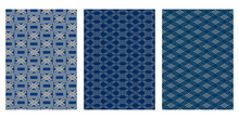 Japanese Weave, Square, Diagonal Stripe Abstract Vector Background Collection