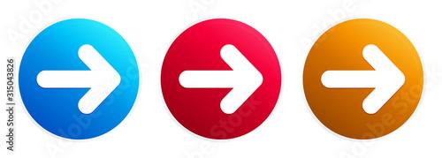 Fotografía Next arrow icon premium trendy round button set