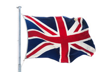 Waving British Union Jack Flag...