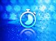 Leinwanddruck Bild - Stopwatch icon abstract light cyan blue hexagon pattern background