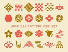 日本の伝統模様 手描...