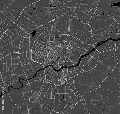 map of the city of Shenyang, China Canvas Print