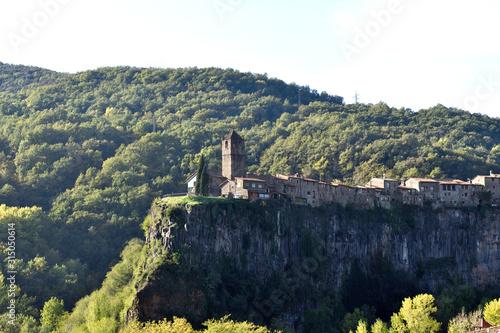 village of Castell Follit de la Raca, La Garrotxa, Girona province, Spain