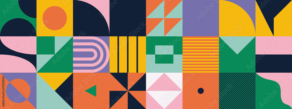 Fototapeta Mid-Century Abstract Vector Pattern