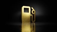 Gold Metal Symbol Of Gas Stati...