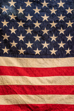 USA Flag In Warm And Classic S...