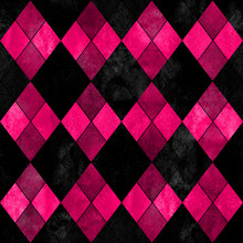 Black And Pink Argyle Seamless...