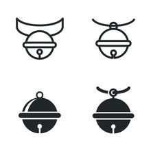 Pet Bell Icon Template Color Editable. Pet Bell Symbol Vector Sign Isolated On White Background Illustration For Graphic And Web Design.