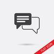 Speech bubble icon. One of set web icons.