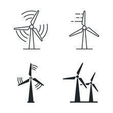 Wind Power Icon Template Color...