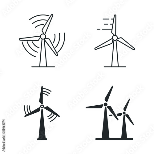 Obraz Wind power icon template color editable. wind turbine symbol vector sign isolated on white background illustration for graphic and web design. - fototapety do salonu