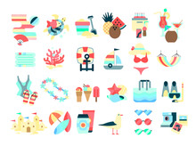 Beach Set. Collection Of Summe...