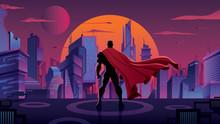 Superhero In Futuristic City