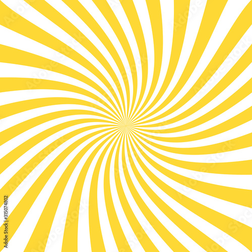 Obraz na plátne Vintage abstract template with yellow sunrays on light background