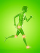 Leinwandbild Motiv 3d rendered medically accurate illustration of a woman having painful joints while running