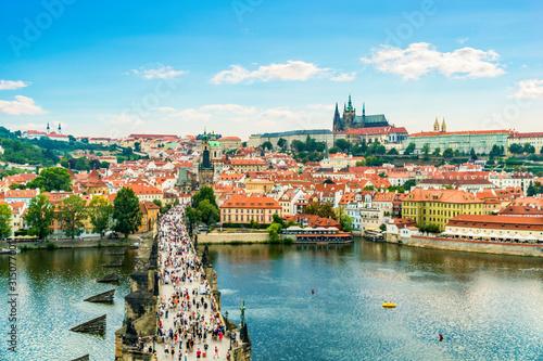 Obrazy Praga  widok-z-lotu-ptaka-na-most-karola
