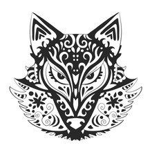 Wild Beautiful Fox Head Hand D...