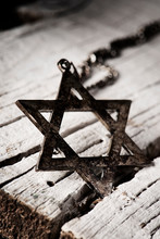 The Star Of David On A Rustic ...