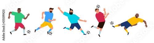 piłka nożna piłkarzy z ilustracji wektorowych piłkę