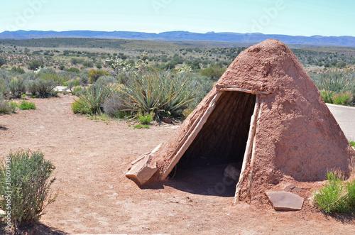 Fotografía Antigua choza usada por los indios en el Gran Cañón del Colorado, Arizona