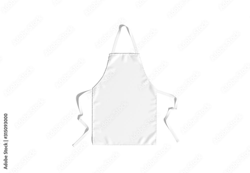 Fototapeta Blank white apron with strap mockup, top view