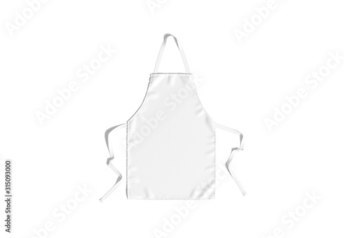 Cuadros en Lienzo Blank white apron with strap mockup, top view