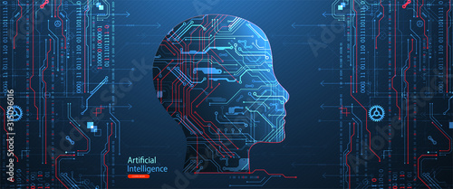 Artificial intelligence concept Canvas