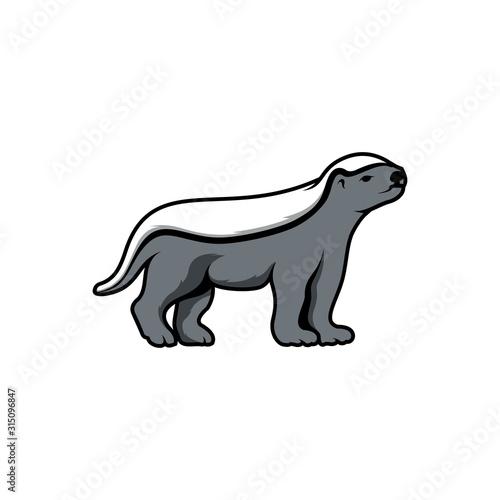 Tablou Canvas the honey badger logo vector