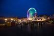 Leinwanddruck Bild - Erfurter Weihnachtsmarkt bei Nacht