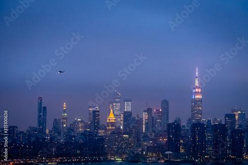 Obraz na plátne  New York au crépuscule