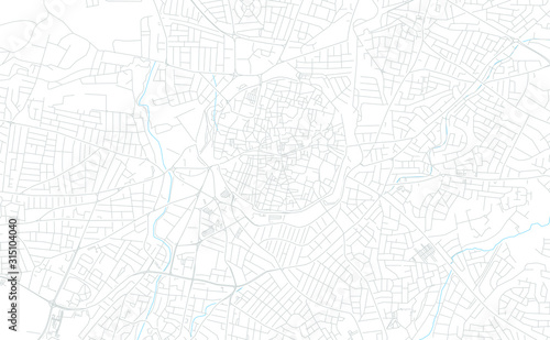 Fotografiet Nicosia  , Cyprus bright vector map