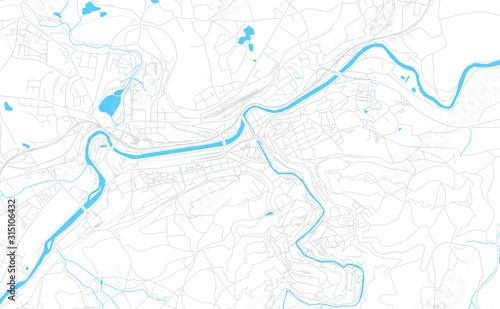 Fotografie, Obraz Karlovy Vary, Czechia bright vector map