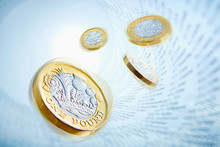 One Pound Coins Surrounded By ...