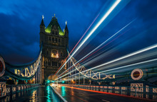 Blurred Lights On Tower Bridge...