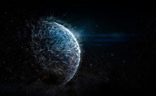 Futuristic Outer Space Planet