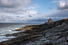 House Overlooking Rocky Seascape Howick Northumberland UK