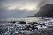 Tranquil Rocky Ocean Beach Pla...