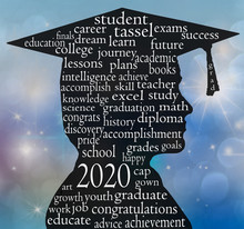 Graduation 2020 Boy Silhouette...