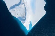 Drone Point Of View Melting Iceberg Greenland